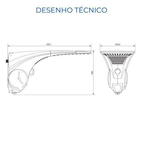 Imagem de Ducha Chuveiro Lorenzetti Duo Shower Quadrada Multitemperaturas 127v 5500w - Branco