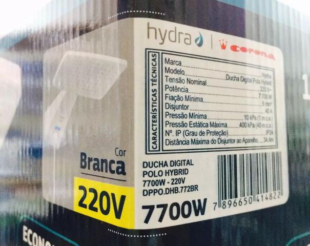 Imagem de Ducha Digital Polo Hybrid Branco 7700w 220v Hydra