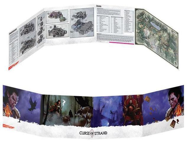 Imagem de Dungeons & Dragons - Maldição de Strahd Screen - Escudo do Mestre