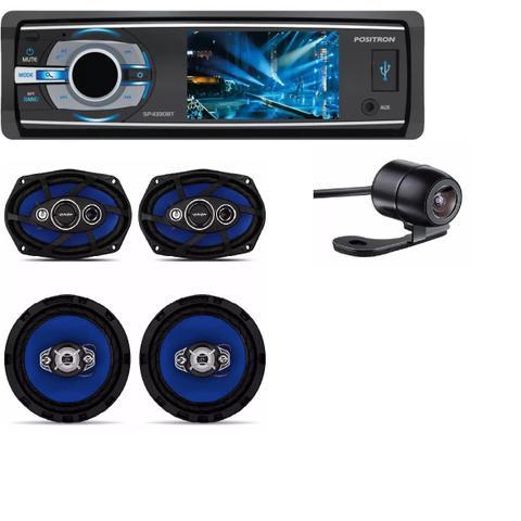 Imagem de Dvd Automotivo Positron Sp-4330bt Bluetooth eKit 4 Alto Falantes Orion 6 Pol 220w E Camera de Ré