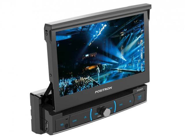 Imagem de DVD Automotivo Pósitron SP6320 Retrátil Tela 7 - Touch Screen Entradas USB Aux e p/ Câmera de Ré