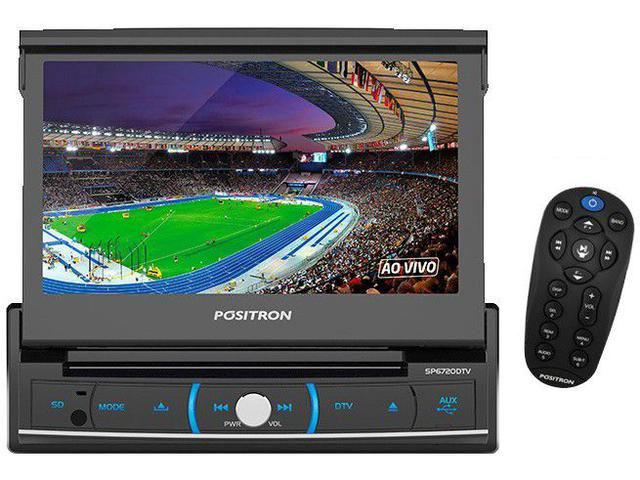 "Imagem de DVD Automotivo Pósitron SP6720 LCD TV 7"" Retrátil"