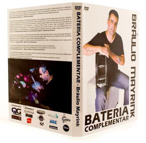 Imagem de DVD Bráulio Mayrink Bateria Complementar - Rock, Salsa, Funk, Afro, Jazz, Pedal Duplo, Ostinato