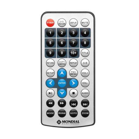 Imagem de DVD Game Mondial D-08 Portátil Play Action com Tela LCD 7 Entrada USB e SD e Função Game