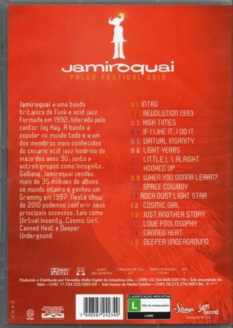 Imagem de DVD Jamiroquai - Paleo Festival 2010