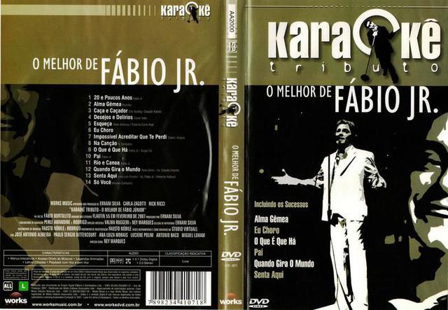 Imagem de DVD Karaokê Tributo O Melhor de Fábio Jr.