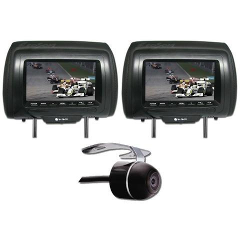 Imagem de DVD Player 2 Din E-Tech + 2 Encosto AV + Câmera Ré