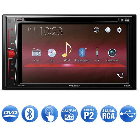 Imagem de DVD Player Automotivo Pioneer AVH-A208BT 2 Din 6.2