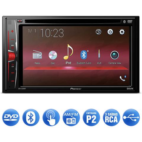 Imagem de DVD Player Automotivo Pioneer AVH-A208BT 2 Din 6.2