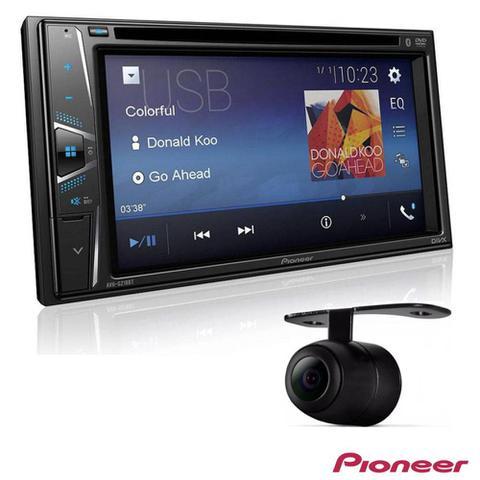 Imagem de DVD Player Automotivo Pioneer AVH-G218BT 2-DIN Tela de 6.2 Bluetooth USB Entrada Auxiliar + Câmera de Ré
