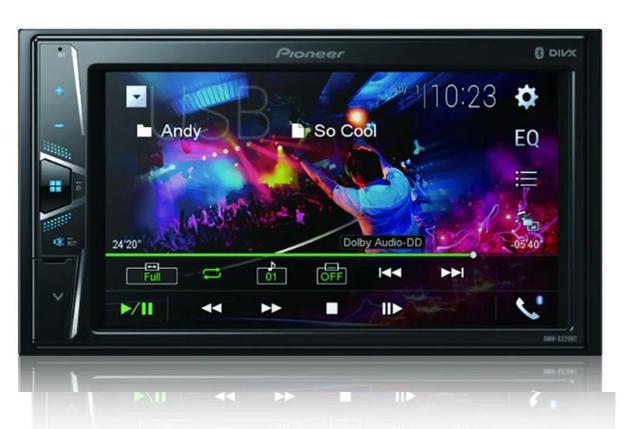 Imagem de Dvd Player Automotivo Pioneer Avh-g228bt leitor cd Bluetooth Usb Controle Remoto
