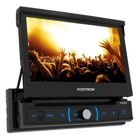 Imagem de Dvd Player Automotivo Positron SP6330BT Retrátil Tela 7 DVD/Bluetooth/USB/SD/AUX/FM/Espelhamento