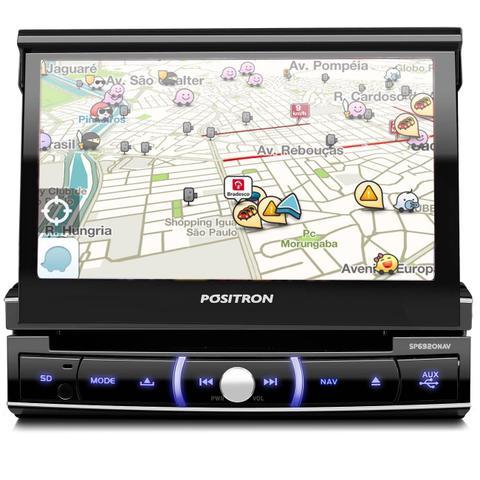 Imagem de DVD Player Automotivo Pósitron SP6920NAV 7 Polegadas Retrátil Espelhamento Celular + Suporte
