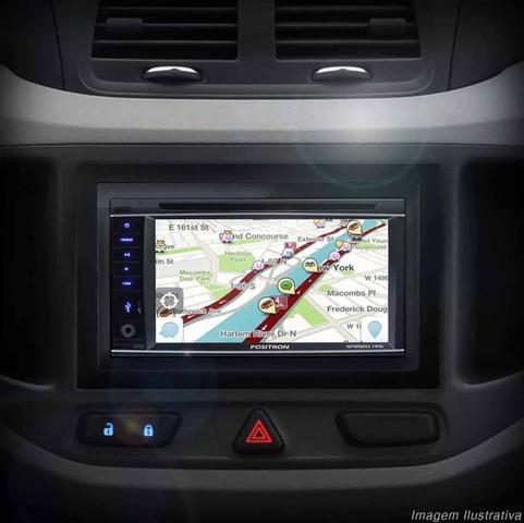 Imagem de DVD Player Automotivo Positron SP8920 NAV 2 Din 6,2 Pol Bluetooth USB GPS TV AUX FM Espelhamento