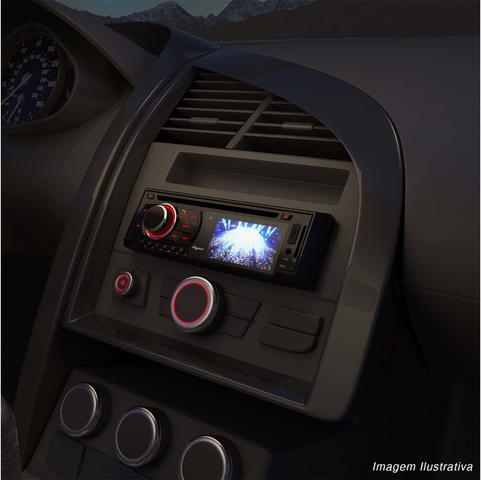 Imagem de DVD Player Automotivo Quatro Rodas MTC6616 1 Din Tela LED 3 Pol Bluetooth USB SD AUX MP3 FM Controle