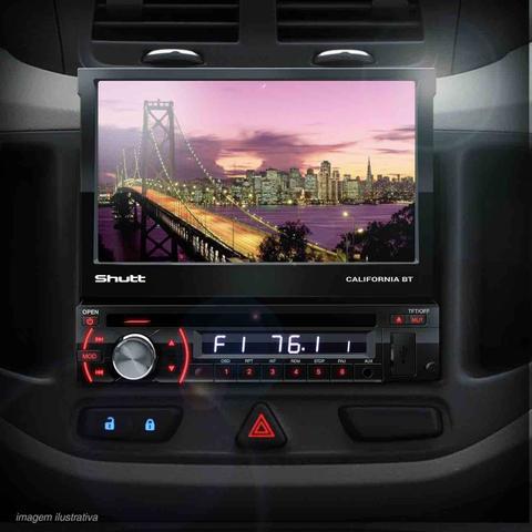 Imagem de DVD Player Automotivo Shutt Califórnia BT 7 Pol HD Bluetooth USB SD AUX MP3 MP4 FM Entrada Câmera Ré