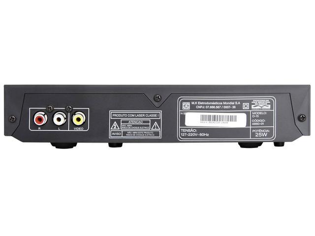 Imagem de DVD Player Mondial D-15 com Karaokê Ripping