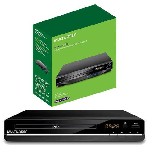 Imagem de DVD Player Multimídia 3 em 1 Multilaser Bivolt CD/DVD/Pendrive Preto Função Ripping - SP252
