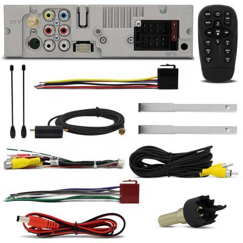 Imagem de DVD Player Pósitron SP6730DTV 7'' Retrátil Bluetooth Espelhamento TV USB + Câmera Ré Noturna 8 Leds