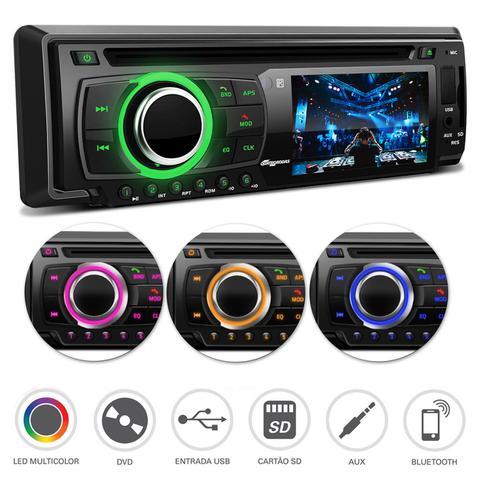 Imagem de DVD Player Quatro Rodas MTC6616 Bluetooth MP3 USB SD + Câmera de Ré + Sensor de Estacionamento Prata