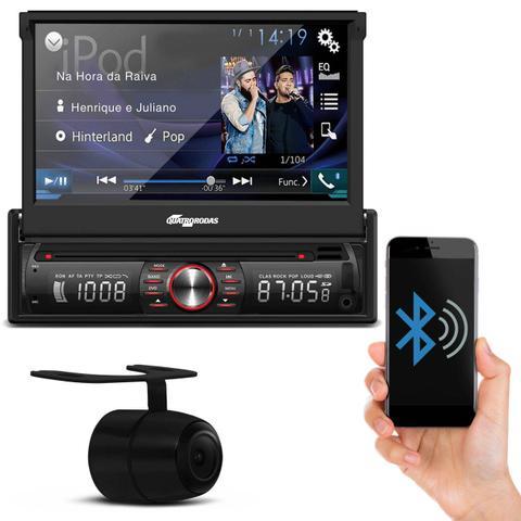 Imagem de DVD Player Quatro Rodas MTC6617 Bluetooth USB SD AUX + Câmera de Ré Preta Universal