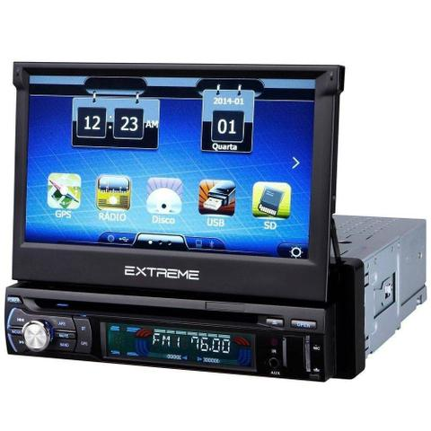 Imagem de DVD Player Retrátil 7 Pol Multilaser - Bluetooth, GPS, TV Digital,  Espelhamento GP044
