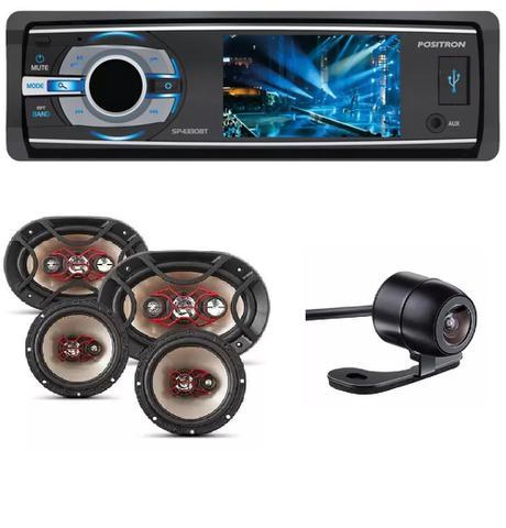 Imagem de Dvd  Positron Sp-4330bt Bluetooth e Kit Facil Bravox Alto Falante 6 + 6x9 Pol 240w E Camera de Ré