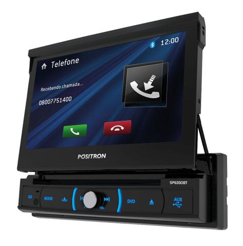Imagem de Dvd Positron Sp6330bt Retratil Bluetooth Usb Sd Espelhamento 7 polegadas