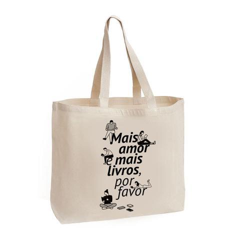 Imagem de Ecobag - Mais amor e mais livros, por favor