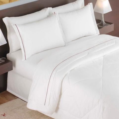 Imagem de Edredom Casal Para Hotel Teka Madri Branco 180 Fios