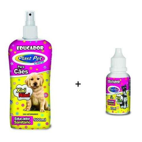 Imagem de Educador Canino Sanitário Xixi sim (Pipi Pode) + Xixi não (Stop Pipi - Stop Dog) + 3 Tapetes Higiênicos Avulso para Cachorro