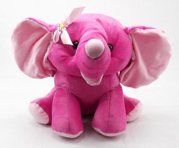 Imagem de Elefante De Pelucia 30 Cm Bicho Decoração Safari Presente
