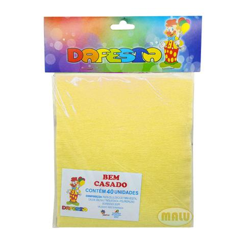 Imagem de Embalagem Crepom Bem Casado Amarelo C/40 - Dafesta