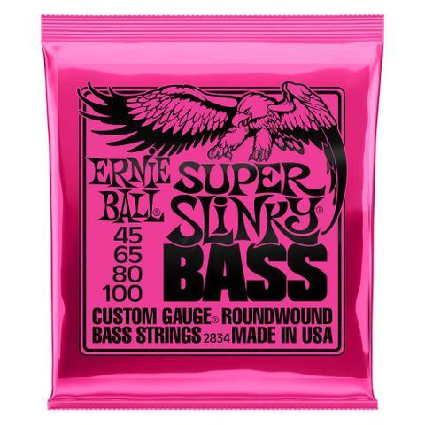 Imagem de Enc 045-100 Baixo 4C Super Slinky Niquel P02834 Ernie Ball