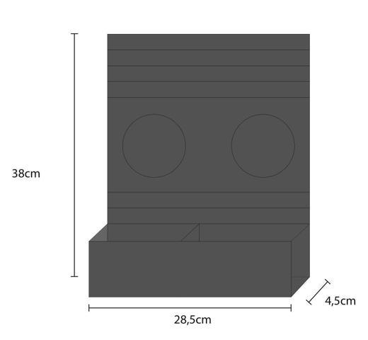 Imagem de Encaixo - Esteira Bandeja Flexivel c/ Porta Copos e Porta Controle 6mm LAM - Tabaco