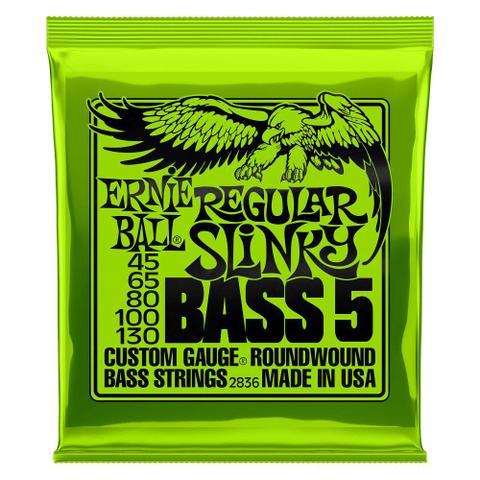 Imagem de Encordoamento 45-130 baixo 5 cordas regular slinky ernieball