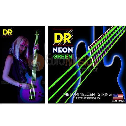 Imagem de Encordoamento baixo 4 cordas DR Strings Neon Green .045/105
