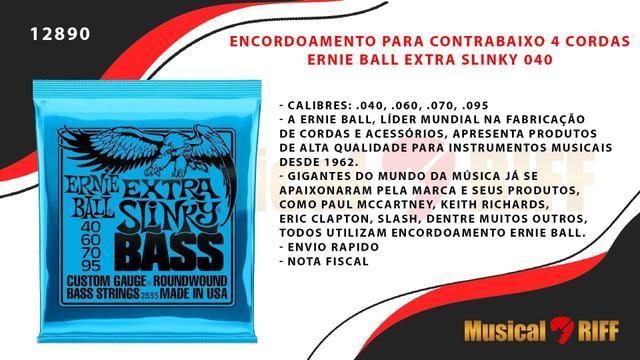 Imagem de Encordoamento baixo 4 cordas ernie ball extra slinky 040