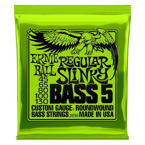 Imagem de Encordoamento Baixo 5 Cordas .045-130 Reg Slinky Niquel Ernie Ball P02836 Cod. 12891