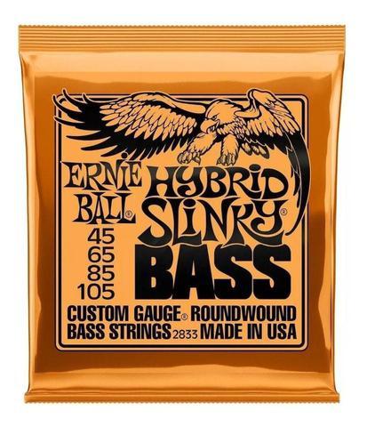 Imagem de Encordoamento Baixo Ernie Ball 4 Cordas Hybrid Slinky 45/105 - P02833