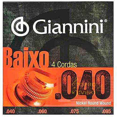Imagem de Encordoamento Contra Baixo 4 Cordas .040 Giannini GEEBRL