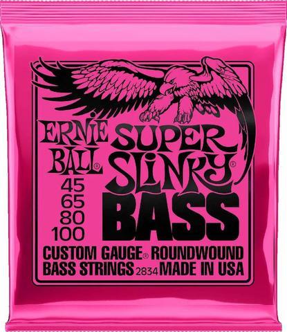 Imagem de Encordoamento Contrabaixo 4 Cordas Ernie Ball .045-.100 Super Slinky 2834