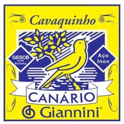 Imagem de Encordoamento Cordas Canário Giannini Cavaquinho Aço