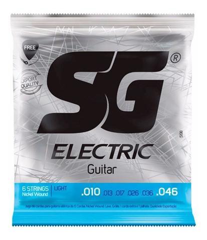 Imagem de Encordoamento Cordas Para Guitarra Sg 010 + Palheta