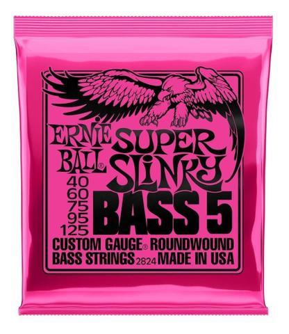 Imagem de Encordoamento Ernie Ball Baixo 5 Cordas 040-125 Super Slinky Niquel P02824