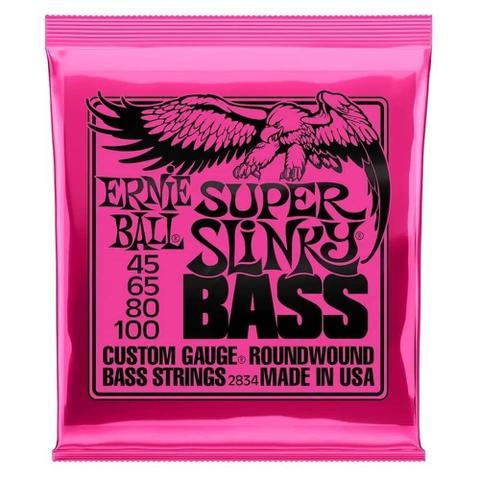 Imagem de Encordoamento Ernie Ball Super Slinky Baixo 045-100 (2834) 4C