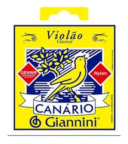 Imagem de Encordoamento Giannini Canário Náilon p/ Violão - GENWB