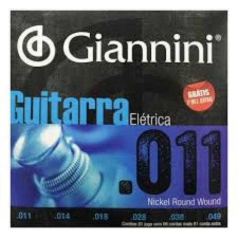 Imagem de Encordoamento Giannini Guitarra Geegst11 Media 011 49 Niquel