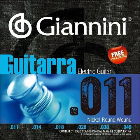 Imagem de Encordoamento giannini guitarra geegst11 niquel 011