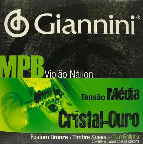 Imagem de Encordoamento Giannini  MPB --  p/ Violão Náilon -- Cristal Ouro -- GENWG